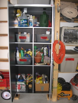 locked cabinet storage