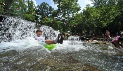 Turkey Creek Falls is one of Alabama's most popular swimming holes and offers a unique oppertunity to beat the heat