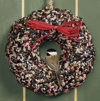 birdfeeder wreath