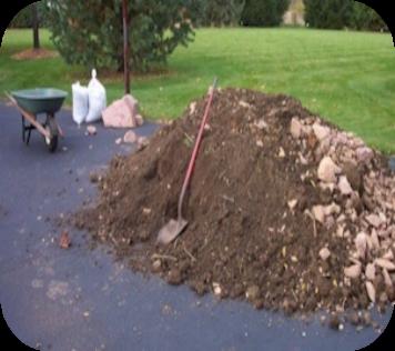 Soil pile