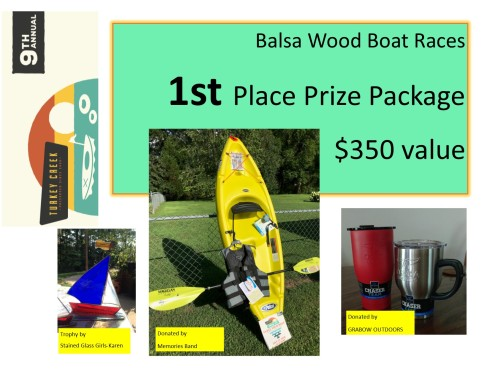 1st place prize sign